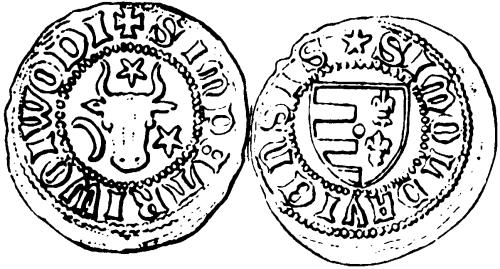 Монета великого князя Молдавии Петра I Мушата